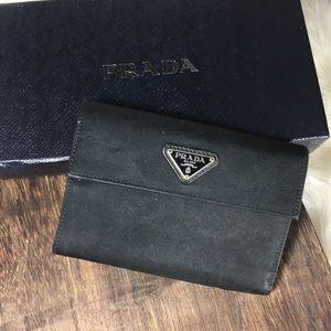 PRADA nylon snap wallet